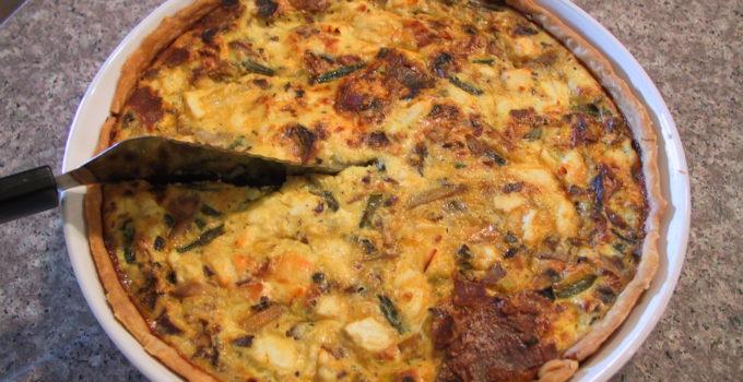MyHealthyVegas Asparagus Mushroom Bacon Quiche