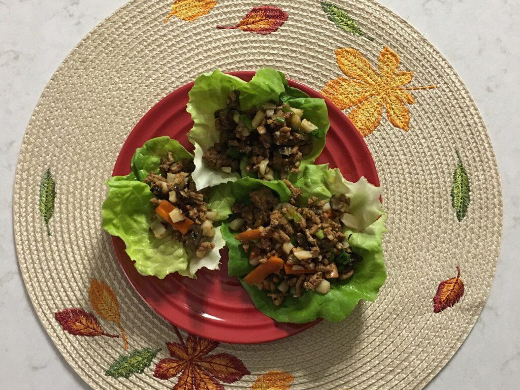 MyHealthyVegas Slow Cooker Turkey Lettuce Wraps